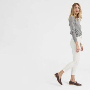EVERLANE White Mid Rise Ankle Jean  31